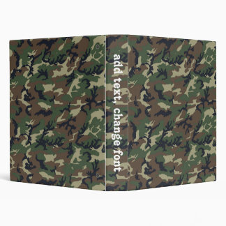Woodland Camouflage Military Pattern Vinyl Binders