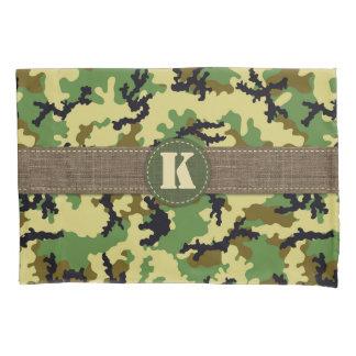 Woodland camouflage pillowcase