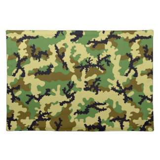 Woodland camouflage placemat