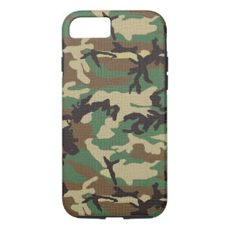 Woodland Camouflage Tough iPhone 7 Case