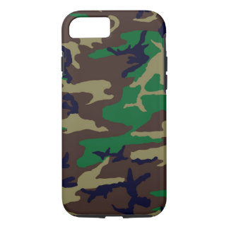 Woodland Camouflage Tough iPhone 7 Case