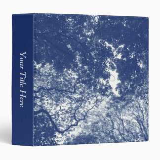 Woodland Canopy 02 - Cyanotype Effect 3 Ring Binder