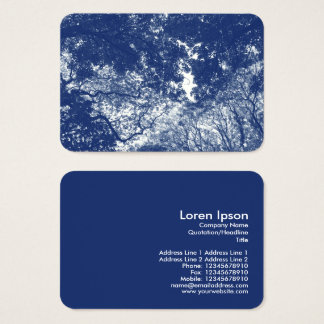 Woodland Canopy 02 - Cyanotype Effect Business Card