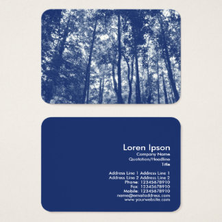 Woodland Canopy - Cyanotype Effect Business Card