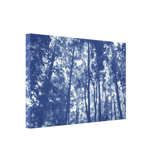 Woodland Canopy - Cyanotype Effect Canvas Print