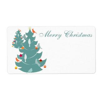 Woodland Christmas Shipping Label