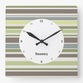 Woodland Colors Nature Pattern Wall Clock