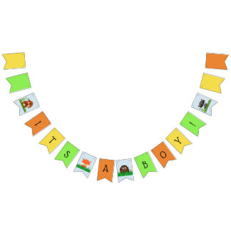 Woodland Creature Baby Shower Bunting Bunting Flags