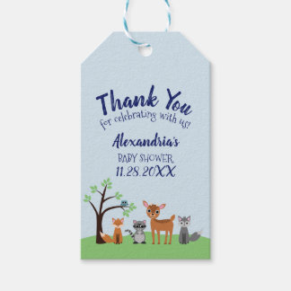 Woodland Creature Favor Tags - Forest Animals