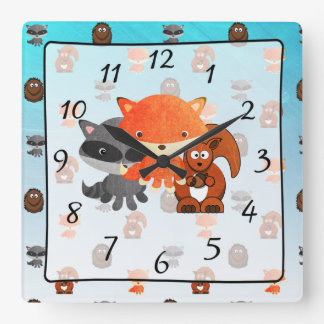 Woodland Creature Forest Animal Baby Nursery Clock