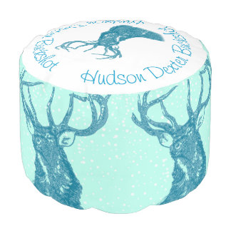Woodland Creatures Deer Buck Nursery Decor Pouf