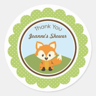 Woodland Critters Favor Bag Label Sticker