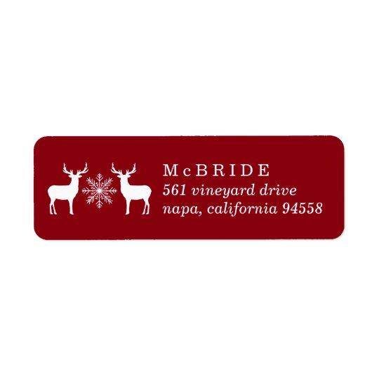 Woodland Deer Christmas Return Address Return Address Label