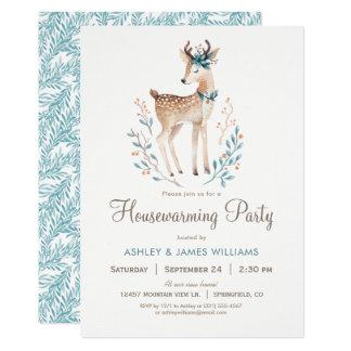Woodland Deer Housewarming Party Invitation
