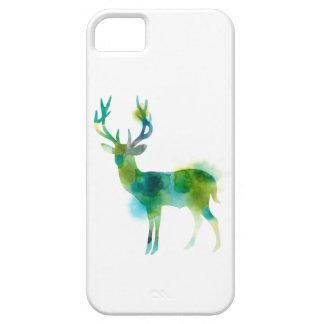 Woodland Deer in delicate Watercolour iPhone 5 Cases