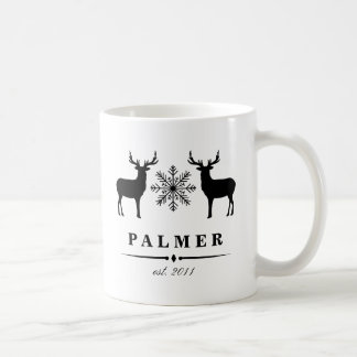 Woodland Deer Personalized Family Name Coffee Mug