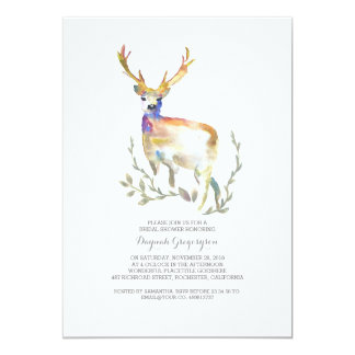 Woodland Deer Rustic Bridal Shower Card