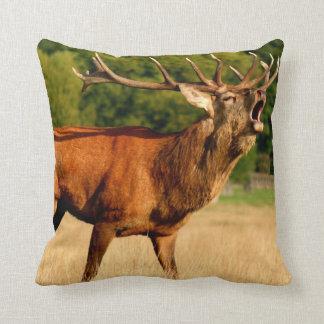 Woodland Deer Throw Pillow