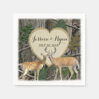 Woodland Deer with Heart Paper Napkin