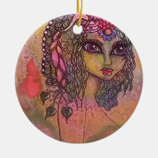 Woodland Fae Ceramic Ornament