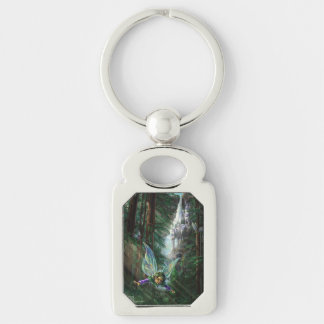 Woodland Fairies and Waterfall Castle Keychain