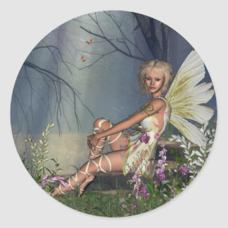 Woodland Fairy Classic Round Sticker