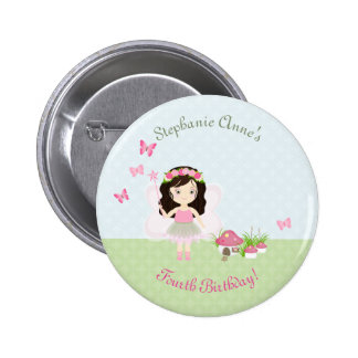 Woodland Fairy Princess 2 Inch Round Button