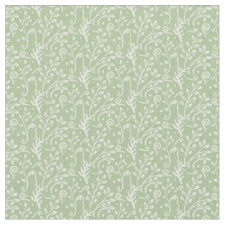 Woodland Fairytale Fern Swirl Baby Girl Nursery Fabric