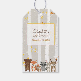 Woodland Fall / Winter Baby Shower Favor Pack Of Gift Tags