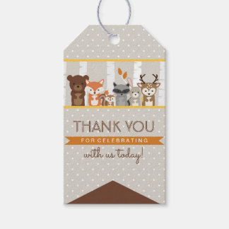 Woodland Fall / Winter Baby Shower Thank You Pack Of Gift Tags