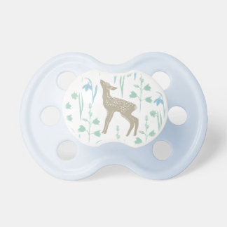 Woodland Fawn Baby Deer Pattern Blue Pacifier