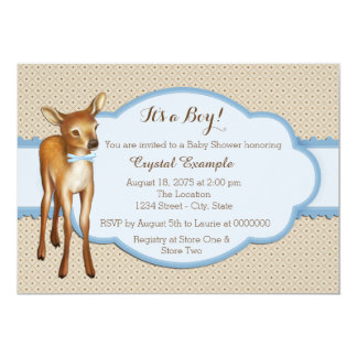 Woodland Fawn Baby Shower Card