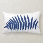 Woodland Fern 2, Cobalt Blue and White Lumbar Pillow