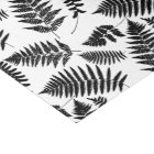 Woodland Fern Pattern, Black and White Tissue Paper