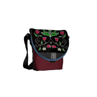 woodland floral courier bag