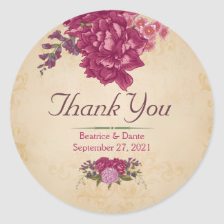 Woodland Floral Thank You Stickers