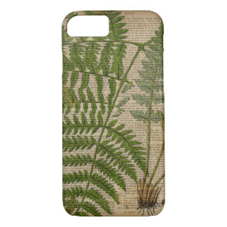 woodland foliage french botanical print fern iPhone 8/7 case