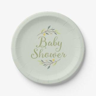 Woodland Forest Baby Shower Plates