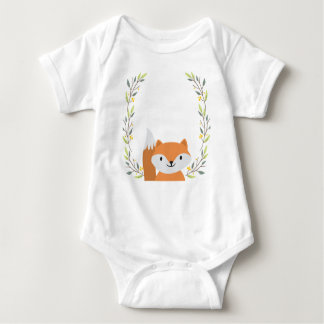Woodland Forest Fox Baby Onsie Baby Bodysuit