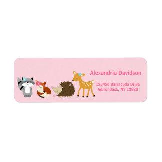 Woodland Forest (Girl) Address Labels