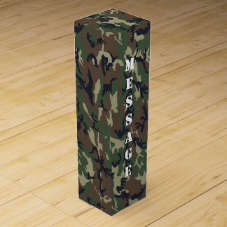 Woodland Forest Military Camouflage Wine Gift Box