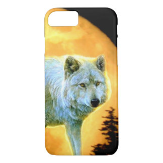 woodland forest moonlight full moon wolf iPhone 8/7 case