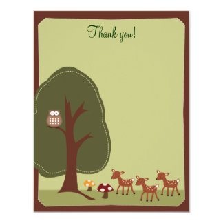 Woodland Forest Nature 4x5 Thank you note {TBA} Card