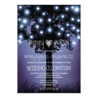 Woodland Forest Rustic Tree Wedding Invitations