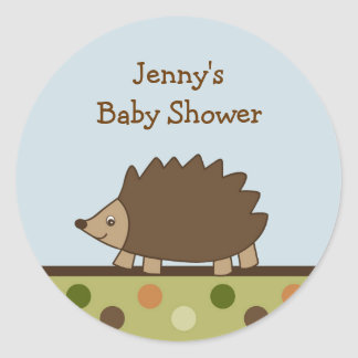 Woodland Forrest Hedgehog Stickers Envelope Seals