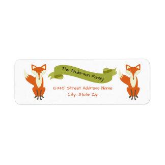 Woodland Fox - Address Labels