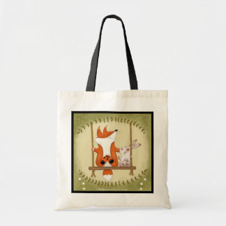 Woodland Fox and Bunny Swing Tote Bag