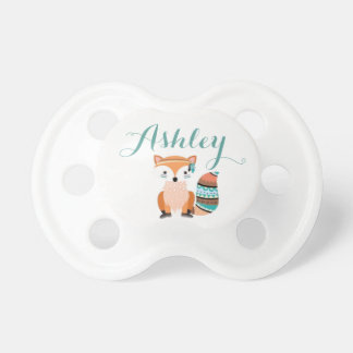 Woodland Fox Baby Pacifier Custom Name