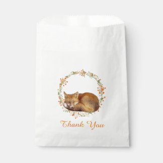 Woodland Fox Baby Shower Favour Bag