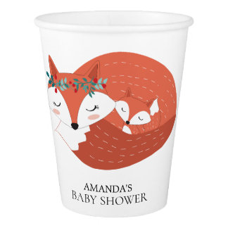 Woodland Fox Baby Shower Paper Cup